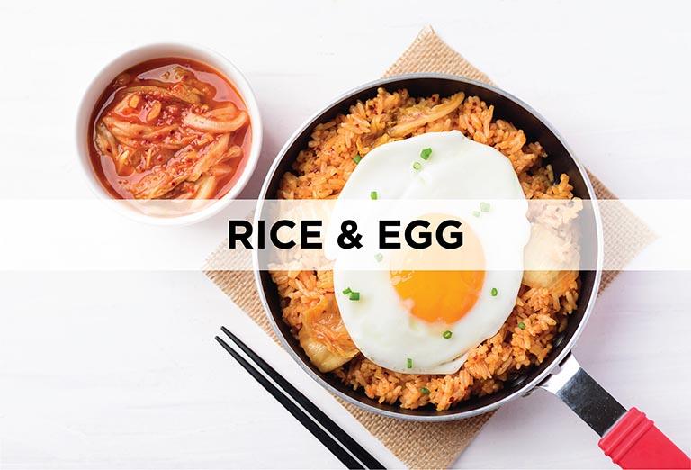 Rice, Eggs and Tofu